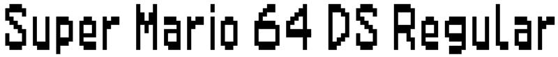 Super Mario 64 DS Regular Font
