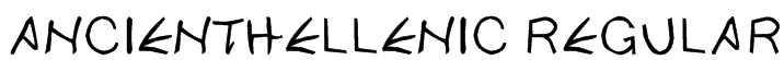 ancientHellenic Regular Font