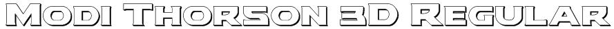Modi Thorson 3D Regular Font