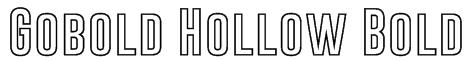 Gobold Hollow Bold Font