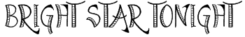 Bright Star Tonight Font