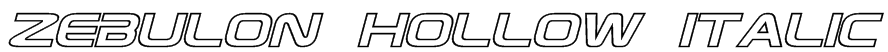 Zebulon Hollow Italic Font