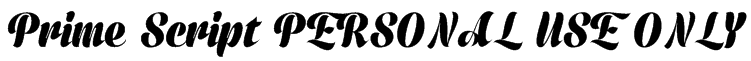 Prime Script PERSONAL USE ONLY Font