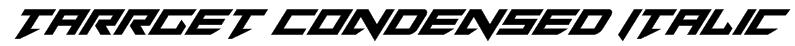 Tarrget Condensed Italic Font