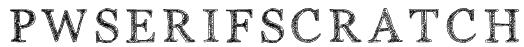 PWSerifScratch Font