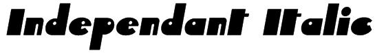 Independant Italic Font