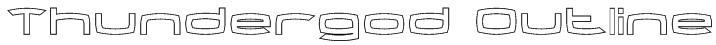 Thundergod Outline Font