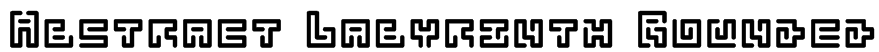 Abstract Labyrinth Rounded Font