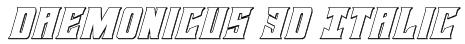 Daemonicus 3D Italic Font