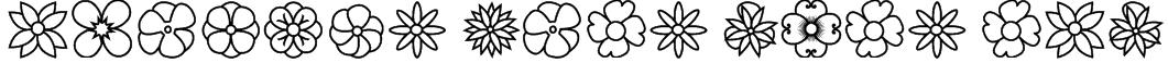 Flowers dots bats tfb Font