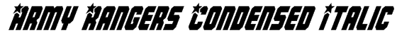 Army Rangers Condensed Italic Font