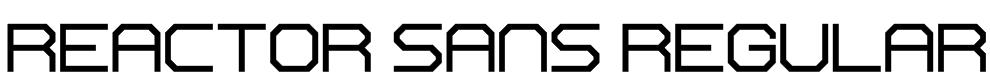 Reactor Sans Regular Font