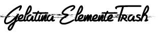 Gelatina Elemente Trash Font