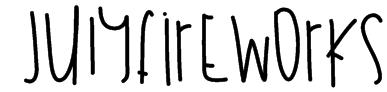 JulyFireworks Font
