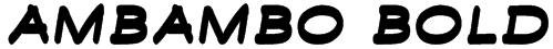 Ambambo Bold Font