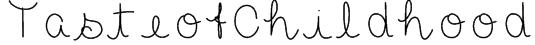 TasteofChildhood Font