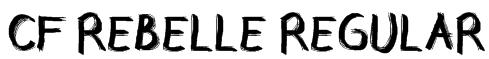 CF Rebelle Regular Font