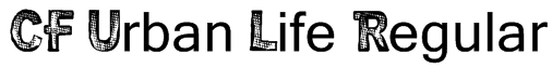 CF Urban Life Regular Font