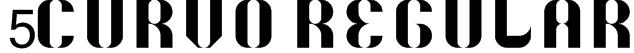 5Curvo Regular Font