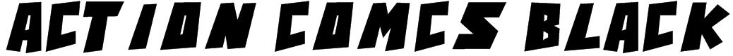 Action Comcs Black Font