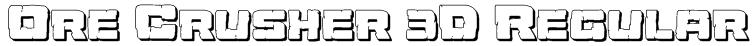 Ore Crusher 3D Regular Font