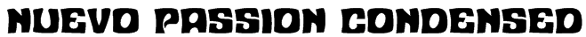 Nuevo Passion Condensed Font