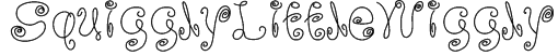 SquigglyLittleWiggly Font