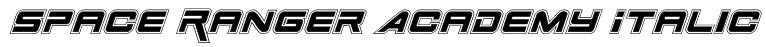 Space Ranger Academy Italic Font