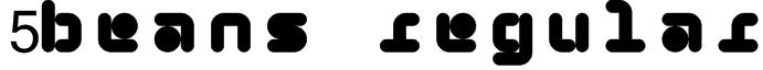 5Beans Regular Font