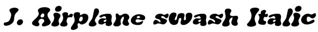 J. Airplane swash Italic Font