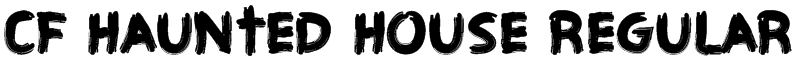 CF Haunted House Regular Font
