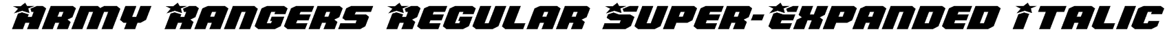 Army Rangers Regular Super-Expanded Italic Font
