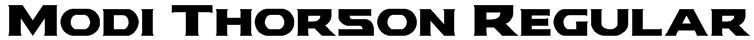 Modi Thorson Regular Font
