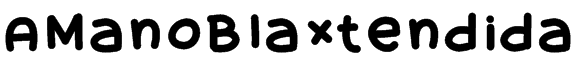 AManoBlaxtendida Font