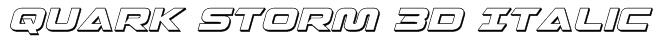 Quark Storm 3D Italic Font