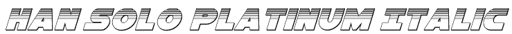 Han Solo Platinum Italic Font