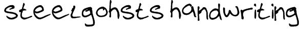steelgohsts handwriting Font