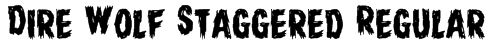 Dire Wolf Staggered Regular Font