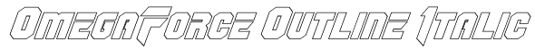 OmegaForce Outline Italic Font