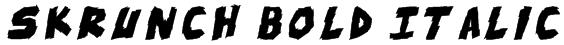 skrunch Bold Italic Font