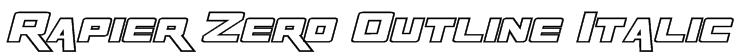 Rapier Zero Outline Italic Font