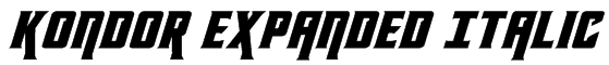 Kondor Expanded Italic Font