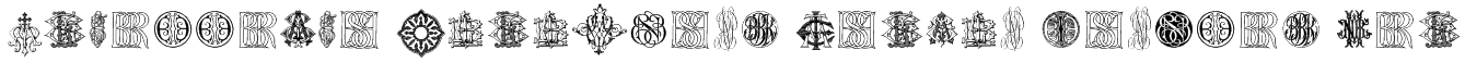 Intellecta Monograms Random Samples Ten Font