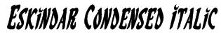 Eskindar Condensed Italic Font
