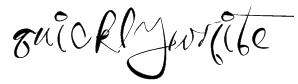 QuicklyWrite Font