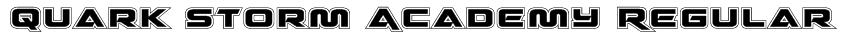 Quark Storm Academy Regular Font