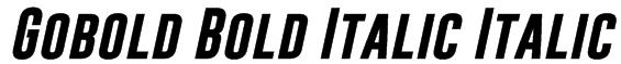 Gobold Bold Italic Italic Font