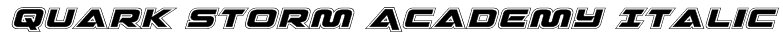 Quark Storm Academy Italic Font
