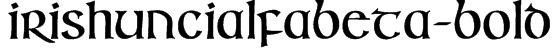 IrishUncialfabeta-Bold Font