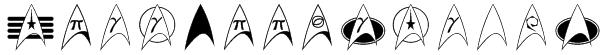 TrekArrowheads Font